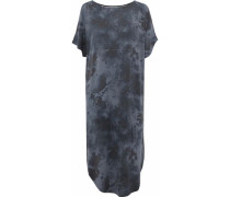 Cold-shoulder tie-dye modal-blend jersey nightdress