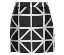 Modern satin-jacquard mini skirt