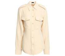 Rainer Silk-crepe Shirt Cream