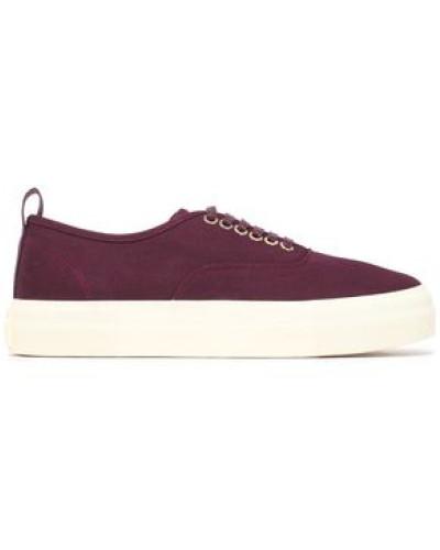 Canvas platform sneakers