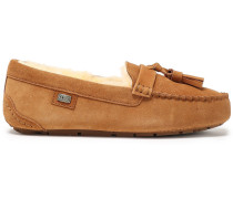 Tasseled Shearling Loafers