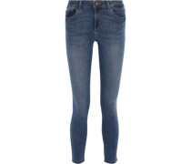 Florence Cropped Low-rise Skinny Jeans Mid Denim