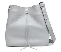 Darren Studded Textured-leather Shoulder Bag Gray Size --