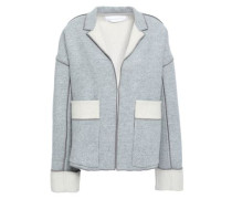 862a5f83e8e19f Mélange Wool And Cashmere-blend Felt Jacket Light Gray Size 12