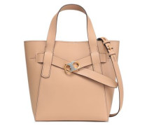 Leather Tote Sand Size --