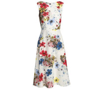 Floral-print Broderie Anglaise Cotton Dress White