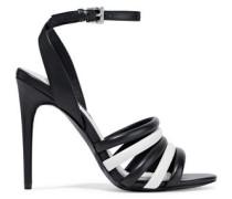 Tahlia Two-tone Leather Sandals Black