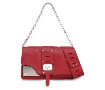 Cutout Leather Shoulder Bag Claret Size --