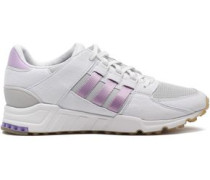 Mesh-paneled Leather Sneakers White