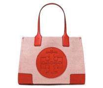 Woman Leather-trimmed Canvas Tote Tan