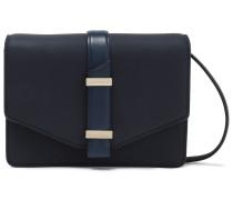 Woman Leather Shoulder Bag Navy