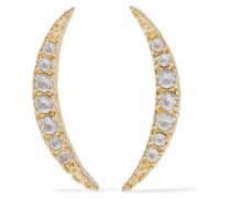Gold-tone topaz earrings