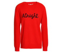 Intarsia-knit wool and cashmere sweater