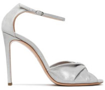 Moondust twisted metallic leather sandals