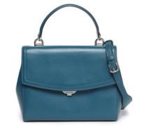 Ava Leather Shoulder Bag Storm Blue Size --