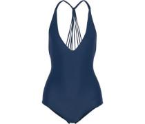 Ipanema Strap-detailed Halterneck Swimsuit Navy
