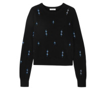 Shirley Embroidered Cashmere Sweater Black