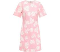 Phoenix Madison Printed Stretch-cotton Twill Mini Dress Baby Pink Size 0