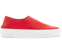 Woman Charlie Leather Slip-on Sneakers Red