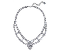 Clementine Oxidized Silver-plated Crystal Choker Silver Size --
