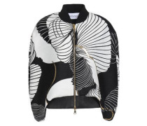 Printed knitted jacket