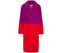 Woman Maribel Two-tone Faux Fur Coat Magenta
