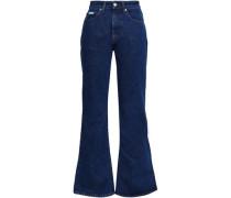 Konawa High-rise Flared Jeans Mid Denim  7