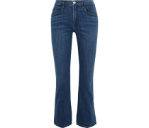 Cropped High-rise Bootcut Jeans Mid Denim  3