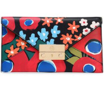 Juliette floral-print leather wallet