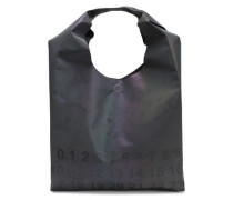Printed Iridescent Cotton-blend Shell Tote Gunmetal Size --
