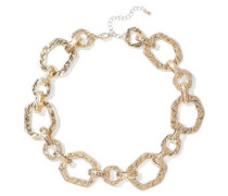 Hammered Gold-plated Necklace Gold Size --