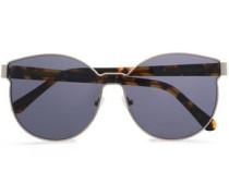 Round-frame Silver-tone And Tortoiseshell Acetate Sunglasses Gold Size --
