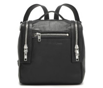Woman Loveless Mini Convertible Textured-leather Backpack Black