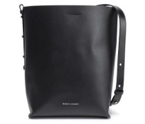 Chain-trimmed Leather Bucket Bag Black Size --