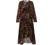 Andrea Leopard-print Devoré-satin Midi Dress Animal Print