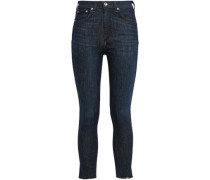 Woman High-rise Skinny Jeans Dark Denim