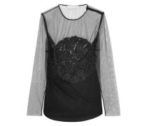 Magalie embroidered tulle top