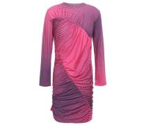 Gathered Dégradé Striped Stretch-jersey Mini Dress Purple