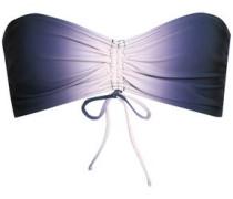 Ruched dégradé bandeau bikini top