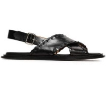Woman Polished Leather Sandals Black