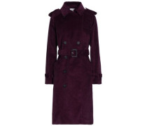 Ferry double-breasted cotton-corduroy trench coat