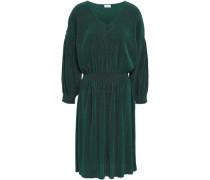 Plissé Stretch-jersey Dress Dark Green