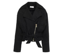 Belted Denim Jacket Black
