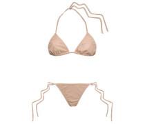 Faux Leather Triangle Bikini Neutral