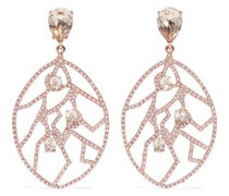 Rose Gold-tone Crystal Clip Earrings Rose Gold Size --
