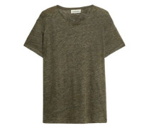 Mélange linen-jersey T-shirt
