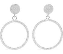 18-karat White Gold Hoop Earrings Silver Size --