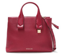 Woman Large Textured-leather Tote Crimson