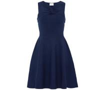 Twist-front cutout stretch-knit mini dress