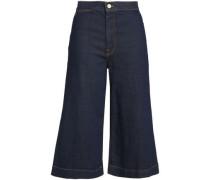 Cropped High-rise Wide-leg Jeans Dark Denim  5